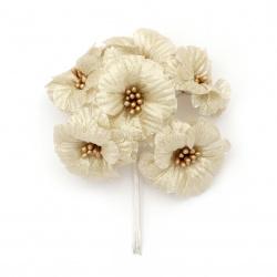 Λουλούδι 50x120 mm χρυσό -6 τεμάχια