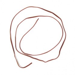 Faux Suede Jewelry Cord ribbon 3x1 mm brown -10 pieces x 1 meter