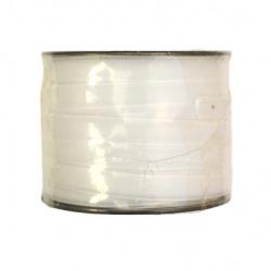 Лента кадифе 1 мм бяла -20 метра