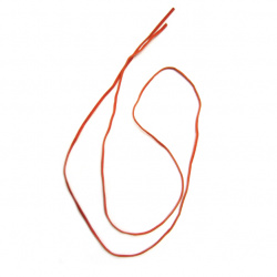 Ribbon suede 2.5 mm orange dark -10 pieces x 1 meter