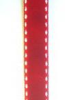 Лента кадифе 1 мм червенa с бели кантове -10 метра