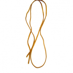 Natural Suede Cord, Suede Lace, Flat 3x1.5 mm creme color  -5 meters