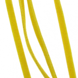 Συνθετικό σουέτ κορδόνι 3x1 mm καραμελέ -10 τεμάχια x 1 μέτρο