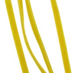 Лента велур 3x1 мм карамел -10 броя x 1 метър