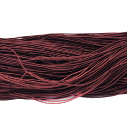 Elastic Cord, with Nylon Outside and Rubber Inside 1mm brown dark ~ 22 meters