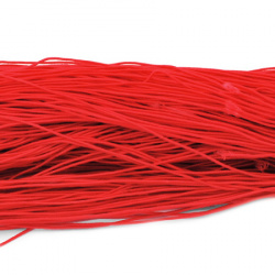 Elastic Cord, with Nylon Outside and Rubber Inside 1mm red ~ 22 meters