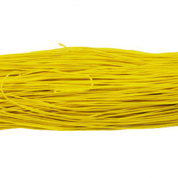 Elastic Cord, with Nylon Outside and Rubber Inside 1 mm yellow ~ 22 meters