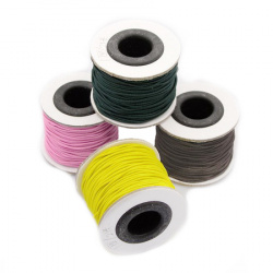 Elastic Cord 1 mm ASORTE ~ 19 meters
