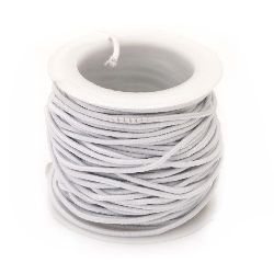 Elastic Cord 1.5 mm white -10 meters