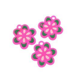 Фигурка гумена 23 мм цвете -10 броя