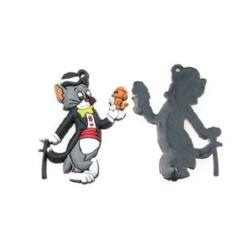 Фигурка гумена котка с мишка 35 мм -10 броя