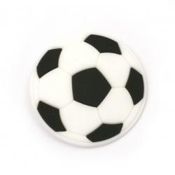 Фигурка гумена 50x50 мм футболна топка със закопчалка 20 мм -5 броя