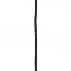 Велур естествен 2.5x1.5 мм кафяв тъмен - 25 метра