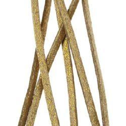 Лента велур естествен 2.5x1.5 мм злато тъмно -5 метра