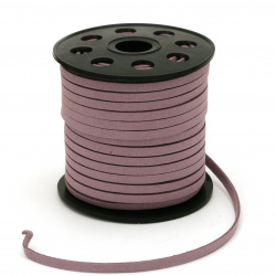 Natural Suede ribbon5x1.5 mm purple -5 meters