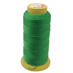Polyester Thread, Dyed, DIY Jewelry Artwords Decoration 0.3 mm green -457 meters