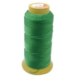 Polyester Thread, Dyed, DIY Jewelry Artwords Decoration 0.5 mm green -183 meters