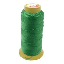 Polyester Thread, DIY Jewelry Making 0.8 mm green -137 meters