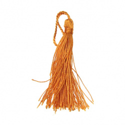 Fabric Tassel 135 mm orange