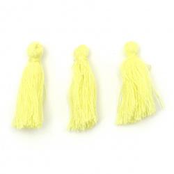 Пискюл памучен 30x15 мм цвят жълт -10 броя