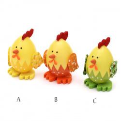 Κοτόπουλο/ αυγό διακοσμητικό 75x45 mm -3 τεμάχια