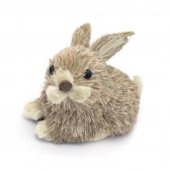 Figurină de iepure de paie 130x90 mm pentru decorare