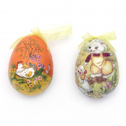 Easter Styrofoam egg for decoration 100x70 mm MIX