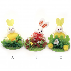 Easter Bunny figurine 110x90 mm for MIX decoration