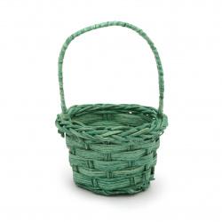 Кошница 40x65x85 мм плетена зелена