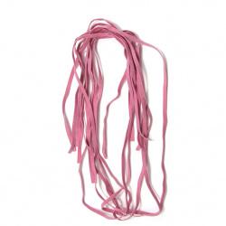 Banda de piele intoarsa 5 mm roz -10 bucati x 1 metru