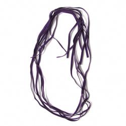 Велурена лента5 мм тъмно лилава  -10 броя x 1 метър