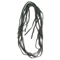 Faux Suede Jewelry Cord 5 mm gray -10 pieces x 1 meter