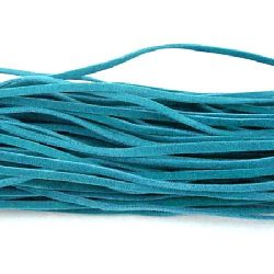 Ribbon Imitation Suede3x1 mm color TEAL -10 pieces x 1 meter
