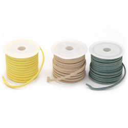 Suede tape 3x1.5 mm color MIX -5 meters