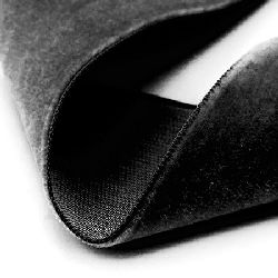 Velvet Ribbon 1 mm black -3 meters