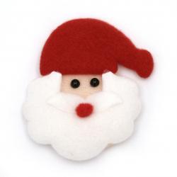 Figurină textilă 75x65 mm Moș Crăciun -2 bucăți