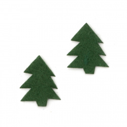 Figurine textile 20x17 mm Christmas tree -20 pieces