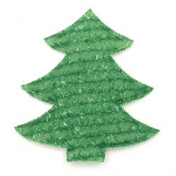 Textile figurine 80x75 mm Christmas tree with seam -2 pieces