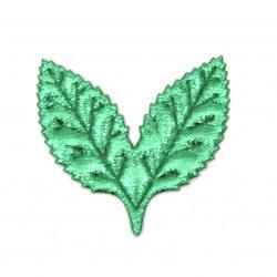 Foaie textilă 50x50 mm culoare verde -10 bucăți