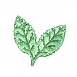 Φύλλο 50x50 mm, ύφασμα, πράσινο ιριδίζον -10 τεμάχια