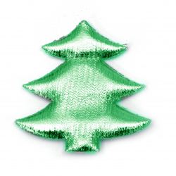 Christmas tree textile 61x61 mm color green -2 pieces
