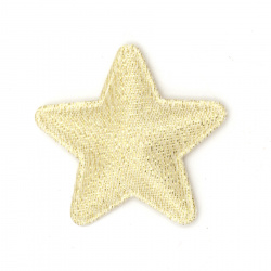 Star with llama textile 40x30 mm color gold -10 pieces