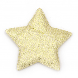 Star with lamella textile 65x55 mm color gold -2 pieces