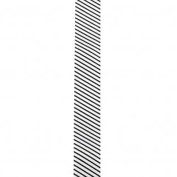 Ширит сатен 25 мм рипс бял щампа -2 метра