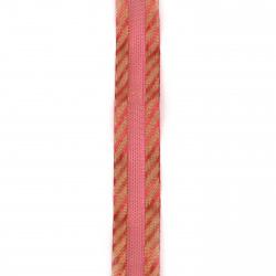 Лента органза и сатен 25 мм червена -2 метра