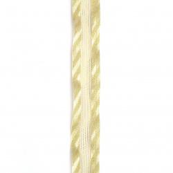 Лента органза и сатен 20 мм злато -2 метра