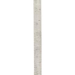 Лента сатен 14 мм рипс бяла с ламе сребро -2 метра