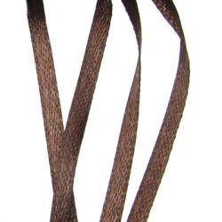 Ширит Сатен 3 мм кафяв тъмен -10 метра