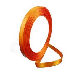 Сатенен ширит/за декорация/ 6 мм оранжев ~22 метра