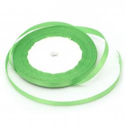 Κορδέλα σατέν 6 mm πράσινο ~ 22 μέτρα